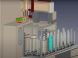 ホブ盤へのワーク供給・排出自動化装置